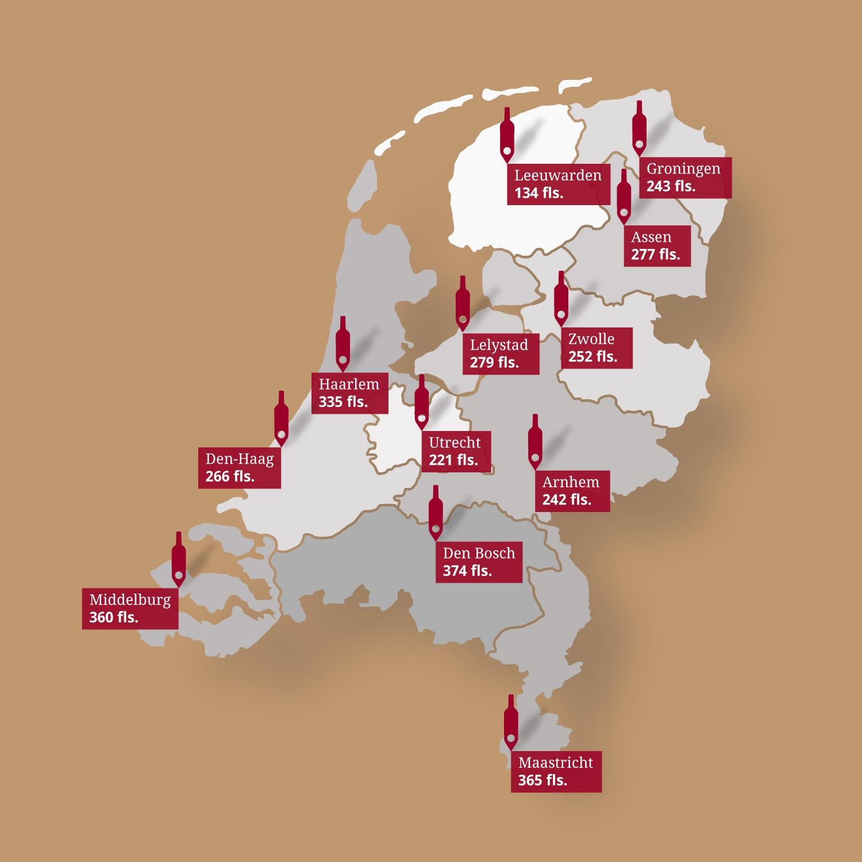 Verkoop flessen wijn Nederland