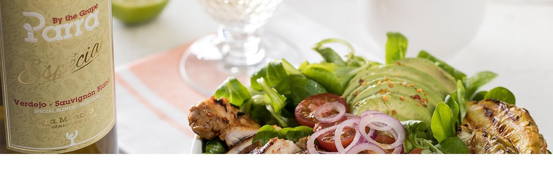 Salade kip en ananas