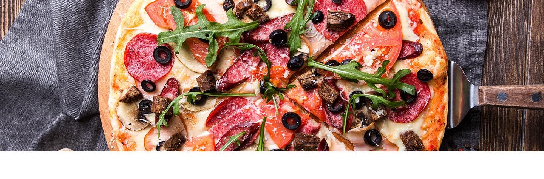 wijn pizza