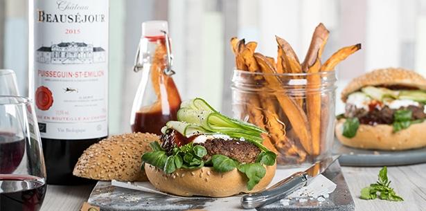 Recept lamsburger zoete aardappelfriet krokant
